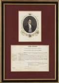 Autographs:U.S. Presidents, James Monroe Naval Appointment Signed as President. ...