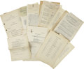 Movie/TV Memorabilia:Documents, Sundown on the Prairie Document Archive. This set of documents pertaining the 1940 Tex Ritter Western includes 14 Sc... (Total: 1 Item)