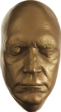 Movie/TV Memorabilia:Memorabilia, David Letterman Life Mask. A gold-painted plaster life mask of theLate Show host, in Excellent condition.... (Total: 1 Item)