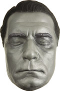 Movie/TV Memorabilia:Memorabilia, Laurence Olivier Life Mask. A silver-painted plaster life mask ofthe brilliant actor and director, in Excellent condition....(Total: 1 Item)