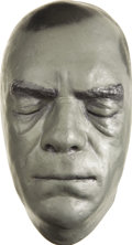 Movie/TV Memorabilia:Memorabilia, Boris Karloff Life Mask. A silver-painted plaster life mask of thelegendary star of countless horror movies, in Excellent c...(Total: 1 Item)