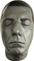 Movie/TV Memorabilia:Memorabilia, Dustin Hoffman Life Mask. A silver-painted plaster life mask of theGraduate and Little Big Man star, in Excellent c...(Total: 1 Item)