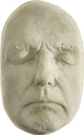 Movie/TV Memorabilia:Memorabilia, Dennis Hopper Life Mask. An unpainted plaster life mask of theEasy Rider star, in Excellent condition.... (Total: 1 Item)