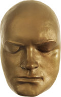 Movie/TV Memorabilia:Memorabilia, Bob Hope Life Mask. A gold-painted plaster life mask of thecomedian and actor, in Excellent condition.... (Total: 1 Item)