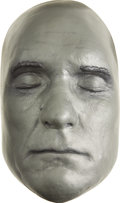 Movie/TV Memorabilia:Memorabilia, Robert Duvall Life Mask. A silver-painted plaster life mask of the Lonesome Dove star, in Excellent condition.... (Total: 1 Item)