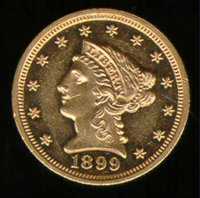1899 $2 1/2 PR 58. An unmistakable proof specimen with boldly struck devices and deep, watery fields, this example displ...