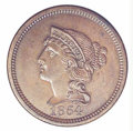 1854 Large Cent, Judd-160, Pollock-187, R.4 PR 63 Brown. The design is similar to that employed on large cents except th...