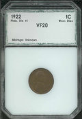 Additional Coins: , 1922 No D 1C Cent Strong Reverse VF 20 PCI. Medium-brown patin...