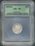 Additional Coins: , 1916-D 10C Dime Good 6 ICG. The only distractions are a couple...