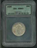 Additional Coins: , 1928 25C Quarter MS 63 ICG. Lustrous with light golden toning ...