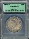Additional Coins: , 1814/3 50C Half Dollar AU 55 ICG. O-101a, R.2. Silver-gray, ch...