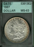 Additional Coins: , 1887 $1 Dollar MS 63 Accugrade. Slight peripheral toning. ...