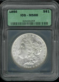Additional Coins: , 1898 $1 Dollar MS 66 ICG. Full-white and lustrous with a few ...