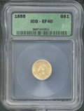 Additional Coins: , 1855 $1 Type Two Gold Dollar XF 40 ICG. An affordable example...