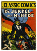 Golden Age (1938-1955):Classics Illustrated, Classic Comics #13 Dr. Jekyll and Mr. Hyde - First Printing (Gilberton, 1943) Condition: VG....