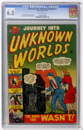 Golden Age (1938-1955):Horror, Journey Into Unknown Worlds #7 (Atlas, 1951) CGC FN+ 6.5 Off-whitepages....