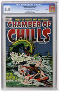Golden Age (1938-1955):Horror, Chamber of Chills #26 (Harvey, 1954) CGC VF 8.0 Light tan tooff-white pages....