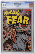 Golden Age (1938-1955):Horror, Worlds of Fear #10 (Fawcett, 1953) CGC GD/VG 3.0 Cream to off-whitepages....