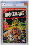 Golden Age (1938-1955):Horror, Nightmare #10 (St. John, 1953) CGC FN/VF 7.0 Off-white to whitepages....