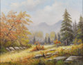 Texas:Early Texas Art - Impressionists, W. R. THRASHER (1908-1997). Change of Seasons. 22in. x28in.. Signed lower left. Titled verso. Born in Lamar County in...