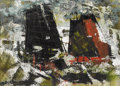 Texas:Early Texas Art - Modernists, XAVIER GONZALEZ (1898-1993). Untitled Abstract Sailboats. Oil,gouache, watercolor, and tempera on paper. 11in. x 15in.. Sig...