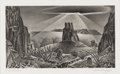 Texas:Early Texas Art - Drawings & Prints, ALEXANDRE HOGUE (1898-1994). Desert Glare. Lithograph. 63/4in. x 12in.. Titled lower left. Signed lower right. In 193...