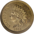 Patterns: , 1858 P1C Indian Cent, Judd-208, Pollock-259, R.1, MS63 NGC. ...
