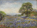 Texas:Early Texas Art - Impressionists, MINNIE HOLLIS HALTOM (1888-1978). Untitled Bluebonnets. Oil onboard. 6in. x 8in.. Signed lower left. ...