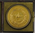"""Military & Patriotic:Civil War, Gold Plated Great Seal of the Confederate States of America. This seal measures approximately 3½"""" in diameter and is in exce..."""