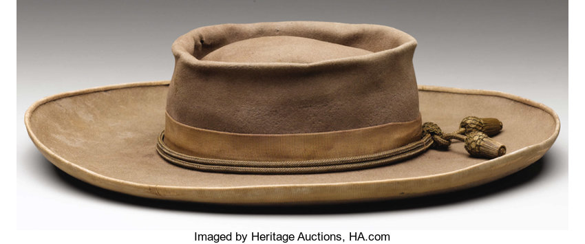 ff45739feb8 A Confederate Officer s Slouch Hat With Gold Cord and Acorns