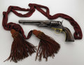 """Military & Patriotic:Civil War, Mosby Ranger Joshua Dear's Colt Army Model 1860 and red sash His .44 caliber revolver, serial number 33582 marked """"JLD"""" ... (Total: 3 items)"""