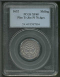 1652 Pine Tree Shilling XF 40 PCGS. Small Planchet. Breen-62, Noe-30. 70.4 grains. In his Encyclopedia, Walter Breen ass...