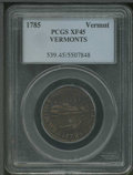 1785 Vermont Copper XF 45 PCGS. VERMONTS. Breen-711, Ryder-2. On June 15, 1785, the legislature of Vermont granted Reube...