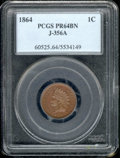 1864 1C Indian Cent, Judd-356A, Pollock-427, R.6-7, PR 64 Brown PCGS. While both the obverse and the reverse of this exa...