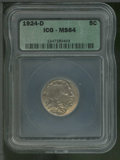 Additional Coins: , 1924-D 5C Nickel MS 64 ICG. Well struck and highly lustrous, t...