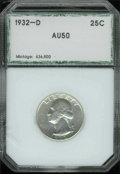 Additional Coins: , 1932-D 25C Quarter AU 50 PCI. Untoned and problem-free with sl...