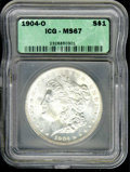Additional Coins: , 1904-O $1 Dollar MS 67 ICG. Liberty's cheek displays an e...