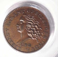 1792 Disme, Judd-10, Pollock-11, R.6, Specimen 65 Brown PCGS. Copper. Ex: Garrett. On July 9-10, 1792, John Harper's hum...