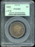 Binder Lots--Three Cent Pieces: , 1863 3C J-319, BN