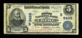 National Bank Notes:Virginia, Crewe, VA - $5 1902 Plain Back Fr. 600 The First NB Ch. # (S)9455....
