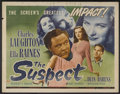 """Movie Posters:Crime, The Suspect (Universal, 1944). Half Sheet (22"""" X 28""""). Crime...."""