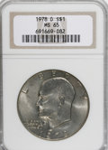 Eisenhower Dollars: , 1978-D $1 MS65 NGC. NGC Census: (2098/170). PCGS Population (682/239). Mintage: 33,012,890. Numismedia Wsl. Price for NGC/P...