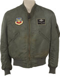 """Military & Patriotic:Foreign Wars, Korean War Ace General Frederick """"Boots"""" Blesse's Flight Jacket...."""
