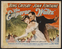 """The Emperor Waltz (Paramount, 1948). Half Sheets (2) (22"""" X 28"""") Styles A & B. Musical.... (Total: 2 I..."""