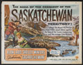 "Movie Posters:Adventure, Saskatchewan (Universal International, 1954). Half Sheets (2) (22""X 28"") Styles A and B. Adventure.... (Total: 2 Items)"