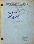 Movie/TV Memorabilia:Memorabilia, Buddy Ebsen's Signed Mail Order Bride Script. Buddy Ebsen'sgiant TV success in The Beverly Hillbillies insp... (Total:1 Item)