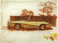 "Movie/TV Memorabilia:Original Art, George Barris Stutz Blackhawk Design Art. A 24"" x 18"" watercolorillustration of a circa 1974 Stutz Blackhawk convertible by...(Total: 1 Item)"