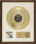 Music Memorabilia:Autographs and Signed Items, Joe Walsh The Smoker You Drink, the Player You Get RIAA Gold Album Award (1973). Presented to Joe Walsh to comme... (Total: 1 Item)