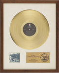 Music Memorabilia:Awards, James Gang Live in Concert RIAA Gold Album Award (1971).Presented to Joe Walsh to commemorate the sale of more ... (Total:1 Item)