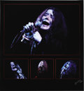 "Music Memorabilia:Photos, Janis Joplin Limited Edition Photo. A haunting blue-tinted 20"" x22"" photo of singer Janis Joplin, another captured by photo...(Total: 1 Item)"